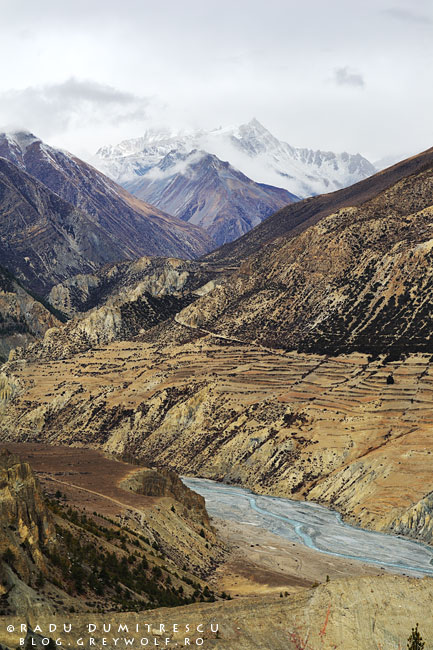 Fotografie de peisaj cu valea Manang, Nepal. Radu Dumitrescu, 2010.