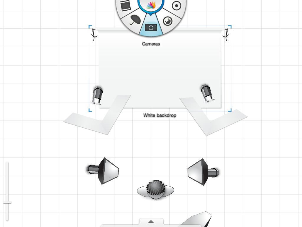Screenshot din aplicația Sylights pentru iPad.