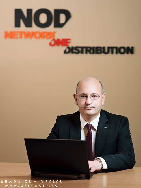 Fotografie corporate - Portret business cu Răzvan Ziemba - Director General Network One Distribution (fosta Asesoft)