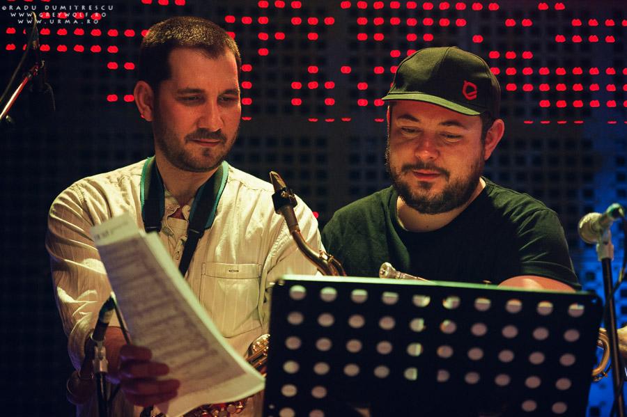 Luis Palomino și Sebastian Burneci, trupa Urma, fotografie din concertul aniversar de 10 ani, Silver Church - București.
