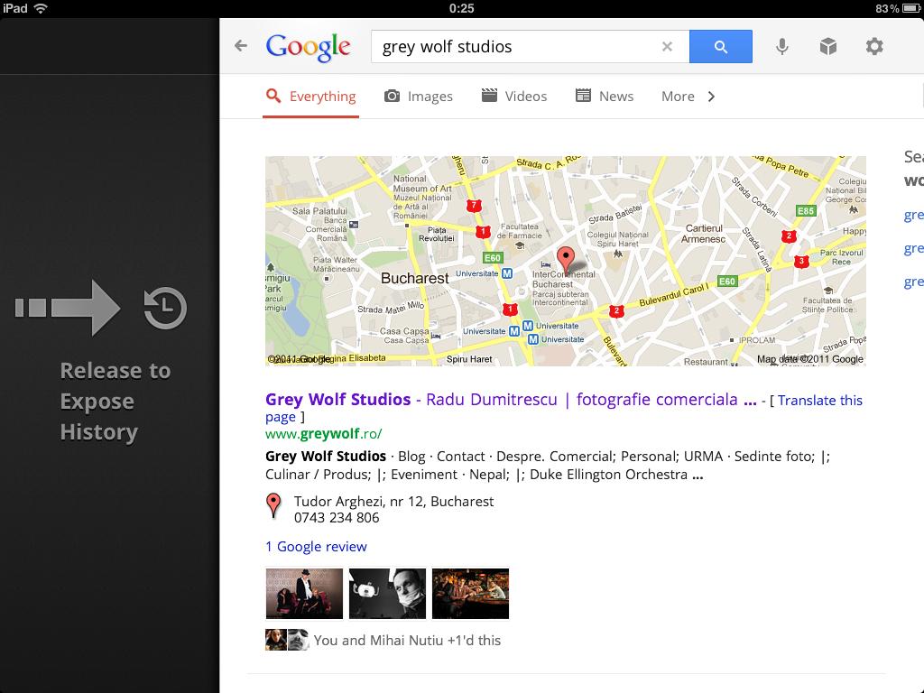 Noul Google Search pentru iPad - aplicatie