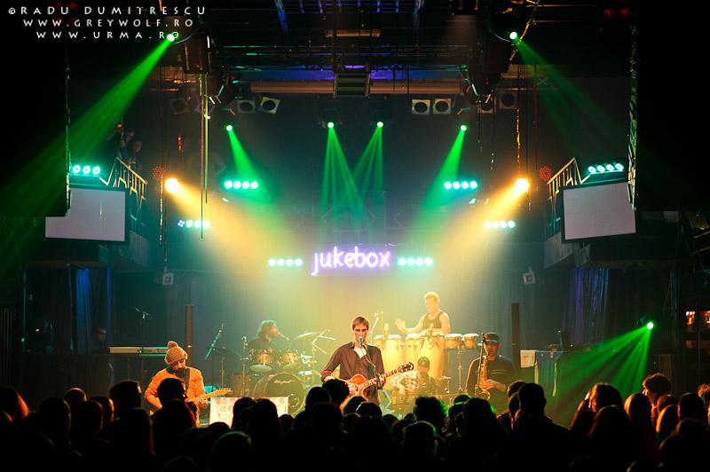 Imagine cu formația Urma din timpul concertului susținut în Jukebox Club. Fotografie de Radu Dumitrescu.