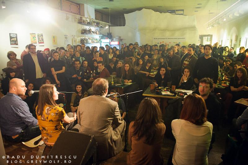 Imagine de la lansarea Revistei de Povestiri, Clubul Țăranului Român, 14 martie 2012, foto Radu Dumitrescu.