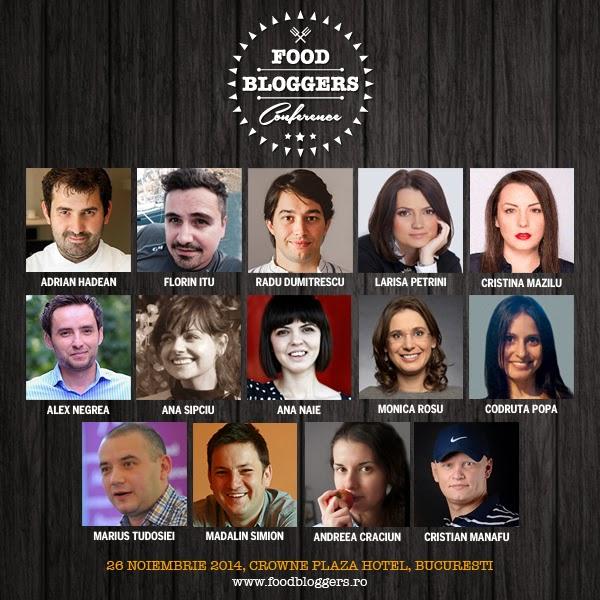 portrete vorbitori Food Bloggers Conference 2014, Bucuresti