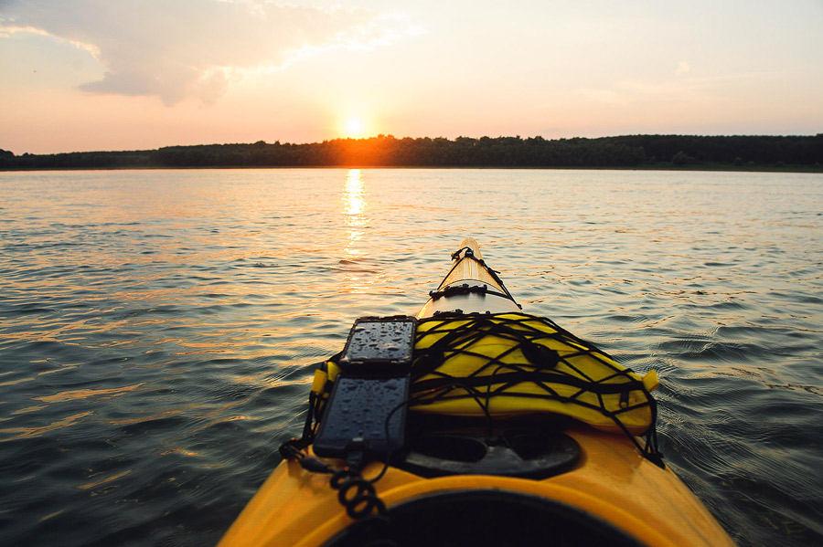 Apus de soare pe Dunăre cu caiacul la TID Romania