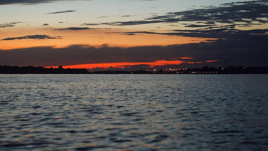 Apus de soare văzut de pe Dunăre - Sf. Gheorghe